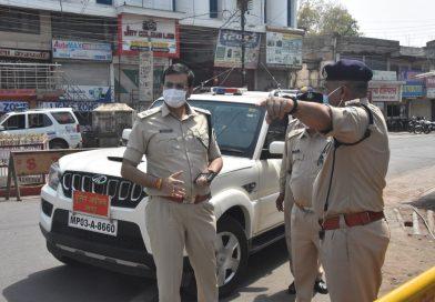 जबलपुर एसपी ने लॉक डाउन की व्यवस्थाओं का लिया जायजा
