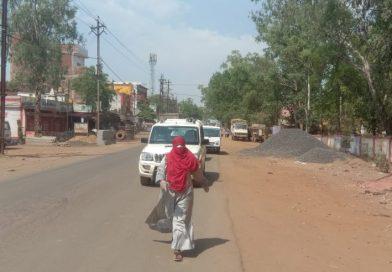 कोरोना गाइडलाईन का पालन करवाने सड़क पर सिहोरा सीएमओ