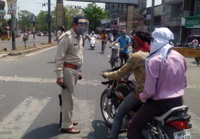 222 लोगों को अस्थाई जेल भेजते हुए 56 दुकानदारों के खिलाप की गई 188 की कार्यवाही